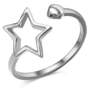 JVD Krásný otevřený stříbrný prsten SVLR0256XH2BI 54 mm obraz