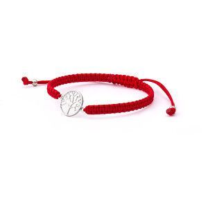 Beneto Stylový červený šňůrkový kabala náramek Strom života AGB544 obraz
