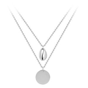 Troli Dvojitý ocelový náhrdelník s přívěsky obraz
