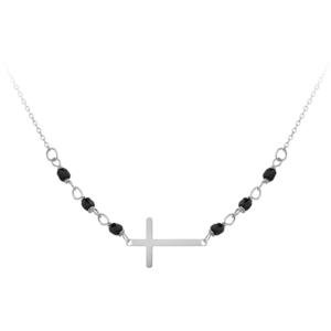 JVD Stříbrný náramek s černými onyxy SVLB0171XH2ON17 obraz