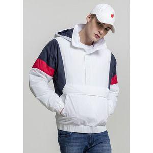 Urban Classics 3 Tone Pull Over Jacket white/navy/fire red obraz