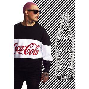 Mr. Tee Coca Cola Stripe Oversize Crewneck black obraz
