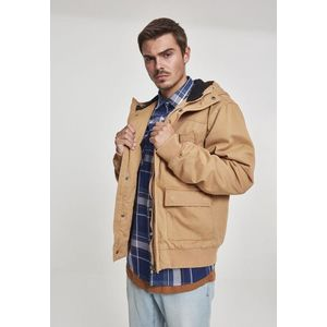 Urban Classics Hooded Cotton Jacket camel obraz
