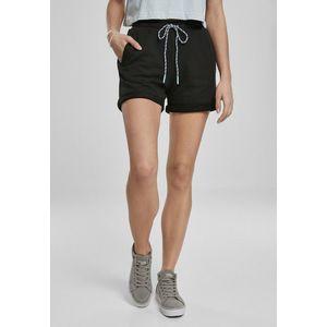 Urban Classics Ladies Beach Terry Shorts black obraz