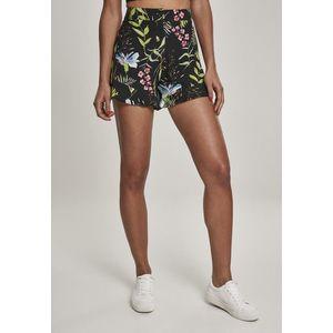 Urban Classics Ladies Resort Shorts black flower obraz