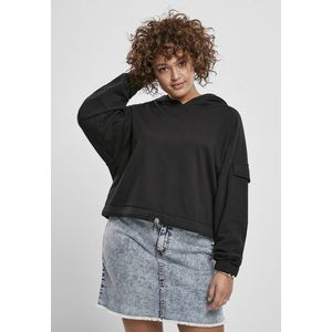 Urban Classics Ladies Short Worker Hoody black obraz