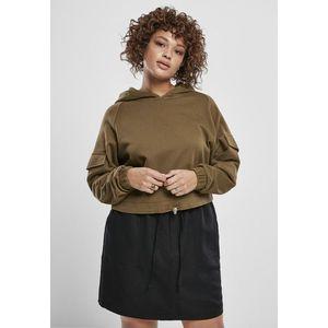 Urban Classics Ladies Short Worker Hoody summerolive obraz