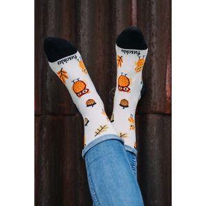 Vícebarevné vzorované ponožky Sova obraz