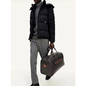 Tommy Hilfiger pánská černá kožená cestovní taška Mercedes Benz obraz