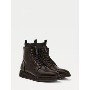 Tommy Hilfiger pánské černé kožené boty Mercedes Benz obraz