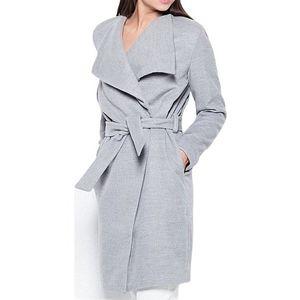 Podzimní flaušový dlouhý kabátek obraz