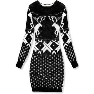 Pletené černé šaty obraz