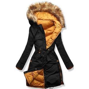 Černo/žlutá oboustranná zimní bunda obraz