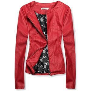Červená koženková bunda obraz