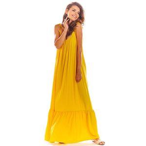 Žluté šaty A307 obraz
