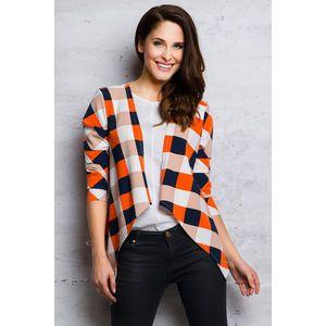 Oranžovo-modrý kabátek M067 obraz
