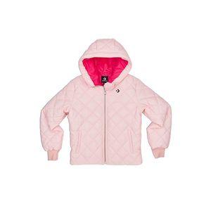 Dámská světle růžová bunda Quilted Poly Puffer obraz