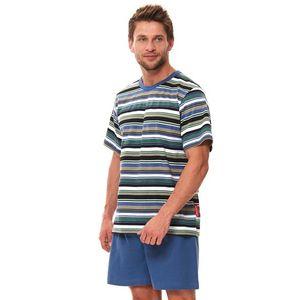 Pánské zeleno-modré pyžamo PMB9634 obraz
