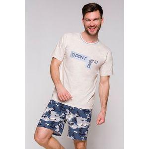 Pánské šedo-modré pyžamo Szymon obraz