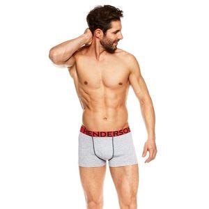 Pánské šedo-červené boxerky Jack - dvoubalení obraz