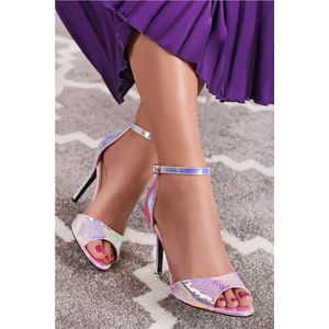 Růžovo-zlaté sandály Monique obraz