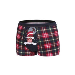 Šedo-červené boxerky Too Fat obraz