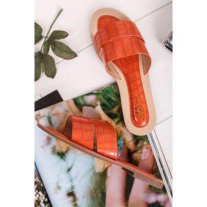 Oranžové pantofle Betsy obraz