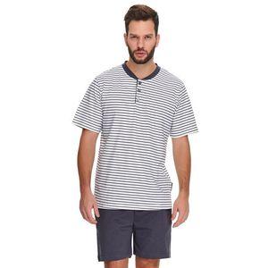 Pánské tmavě šedé proužkované pyžamo PMB9960 obraz