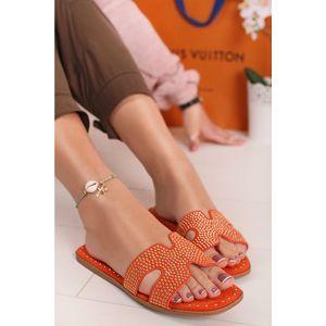 Oranžové pantofle Jodi obraz