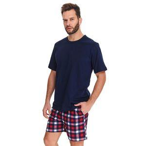 Pánské tmavě modré kárované pyžamo PMB9963 obraz