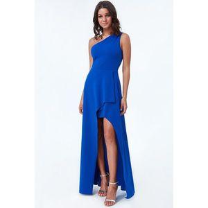Modré dlouhé šaty Eliza obraz