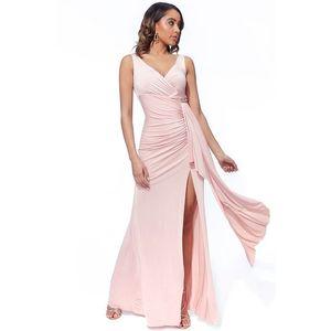 Světle růžové dlouhé šaty Melody obraz