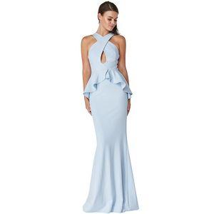 Světle modré dlouhé šaty Lavender obraz