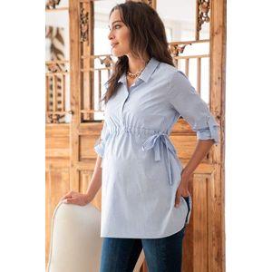 Světle modrá bavlnená těhotenská košile Hermia obraz