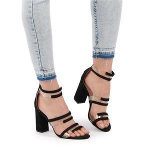 Černé sandály Linea obraz