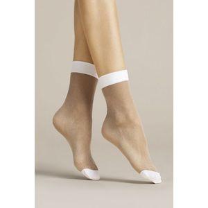 Bílé ponožky Bianco 20DEN obraz