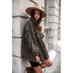 Leopardí džínová bunda Wild girl obraz