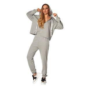 Světle šedý komplet mikina + teplákové kalhoty French Riviera obraz