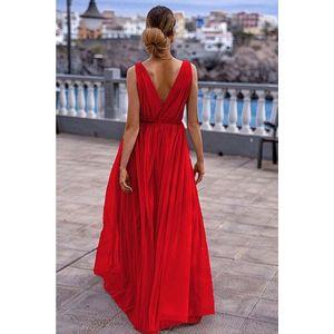Červené dlouhé šaty Agnes obraz