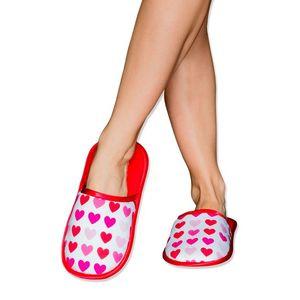 Dámské červeno-bílé pantofle Sweet Love obraz