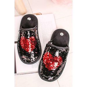 Černé flitrované pantofle Lovely obraz