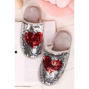 Stříbrné flitrované pantofle Lovely obraz