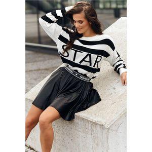 Černá krátká sukně NU330 obraz
