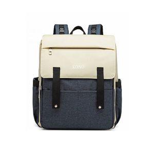 Tmavomodro-smetanový batoh s USB portem Francis obraz