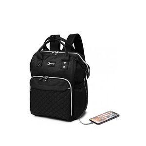 Černý batoh s USB portem Trina obraz