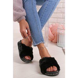 Černé pantofle Aliyah obraz