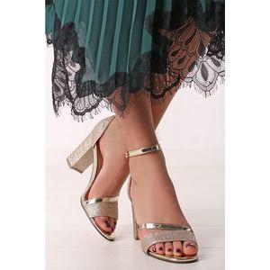 Zlaté sandály Antonia obraz