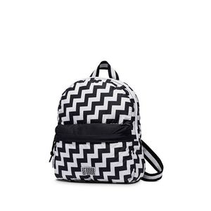 Černo-bílý vzorovaný mini batoh As If obraz