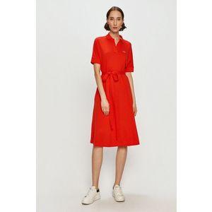 LACOSTE Šaty červená obraz