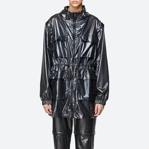 Rains Ultralight Zip Off Parka 1846 SHADOW BLACK obraz